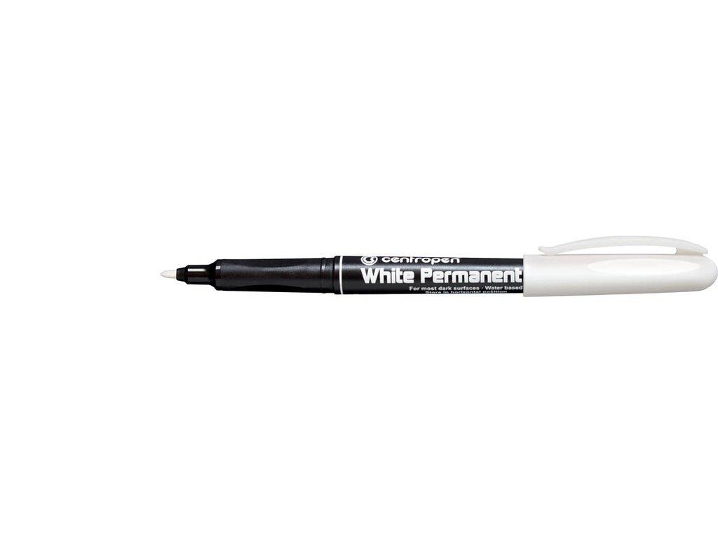 Popisovač Permanent White 2686 Centropen - bílý