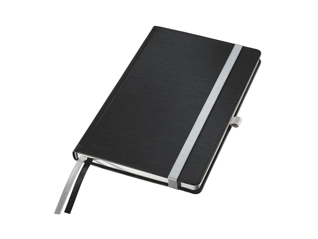 Kniha záznamní Leitz Style - A5 / saténově černá