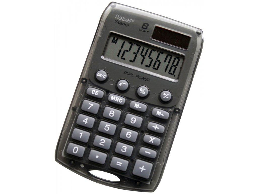 Kalkulačka Rebell Starlet 8 - šedá