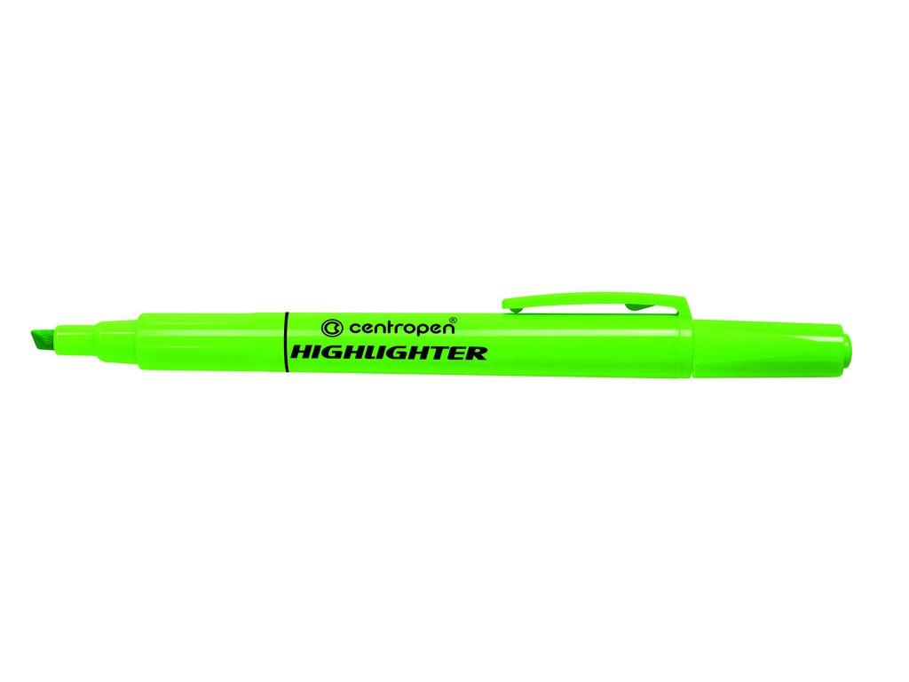 Zvýrazňovač Centropen 8722 HIGHLIGHTER - zelená
