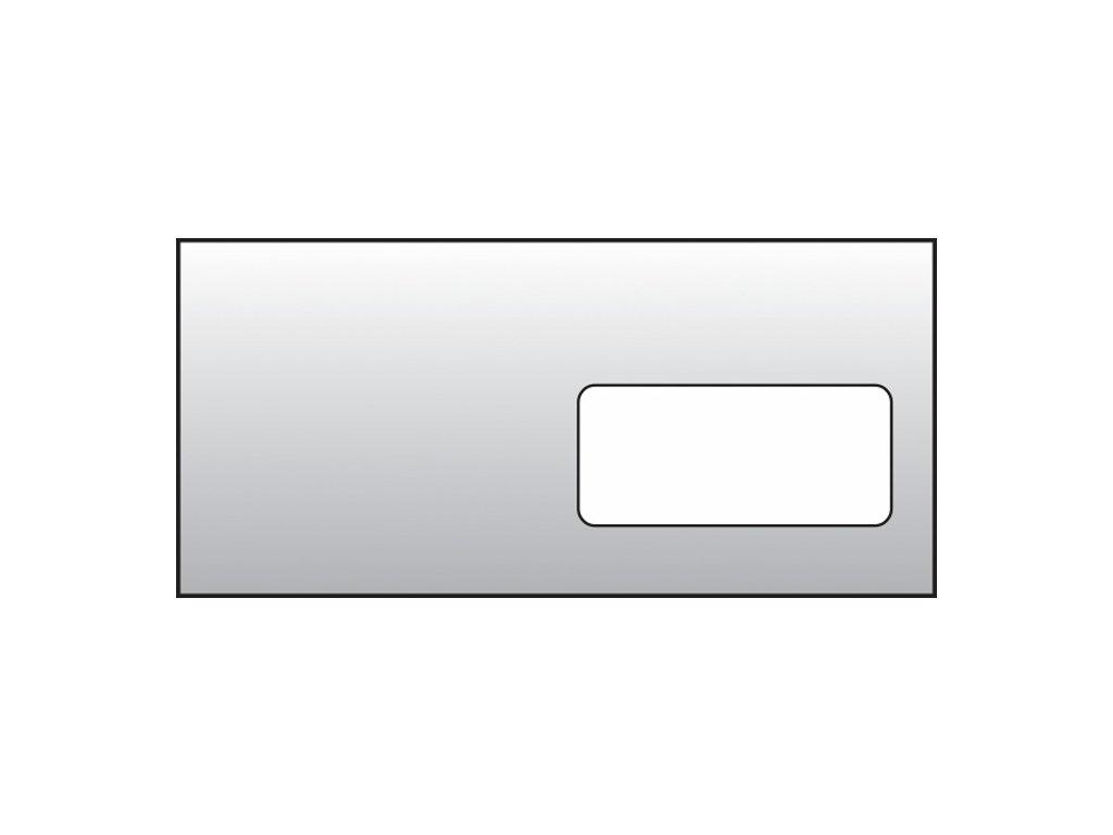 Obálky DL recyklované s okénkem - okénko vpravo / 1000 ks