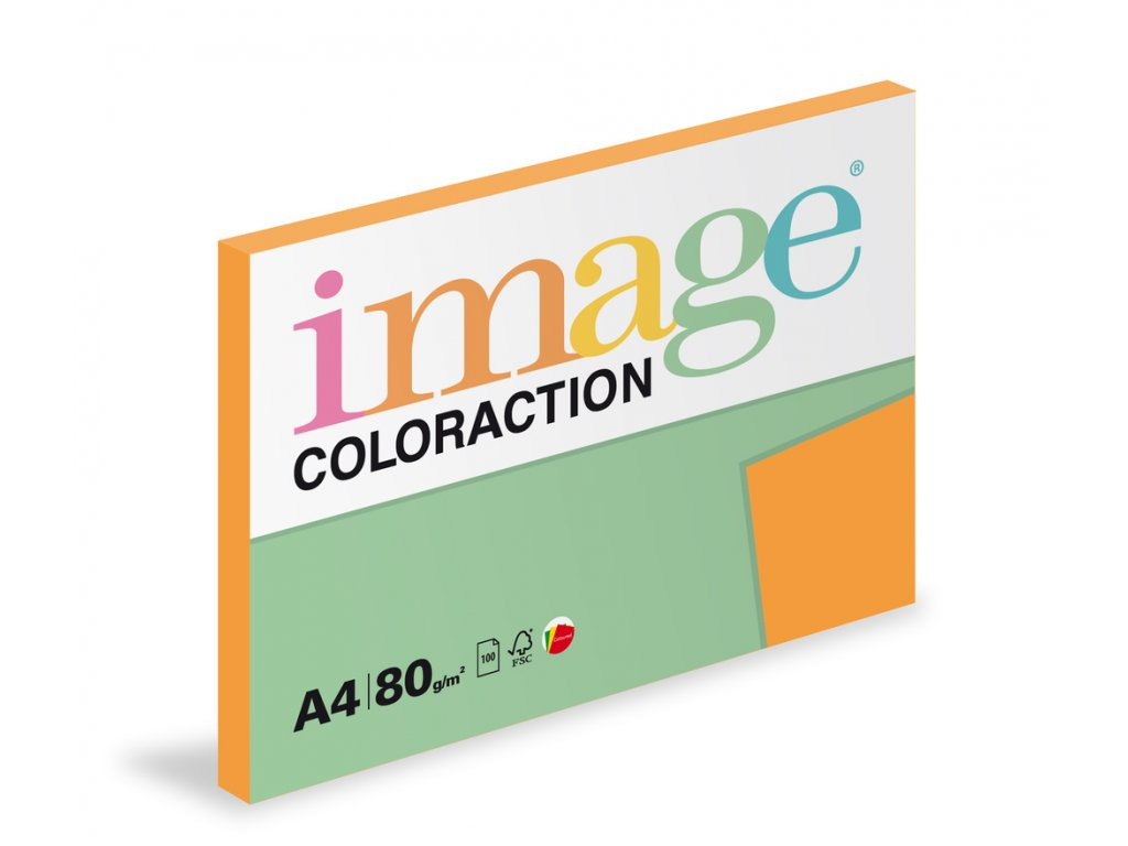 Xerografický papír BAREVNÝ - AG10 venezia / sytě oranžová / 100 listů