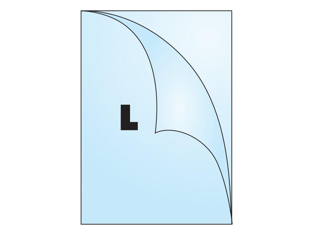 Zakládací obal tvar L - tvar L / A5 silný / 180 my / 100 ks
