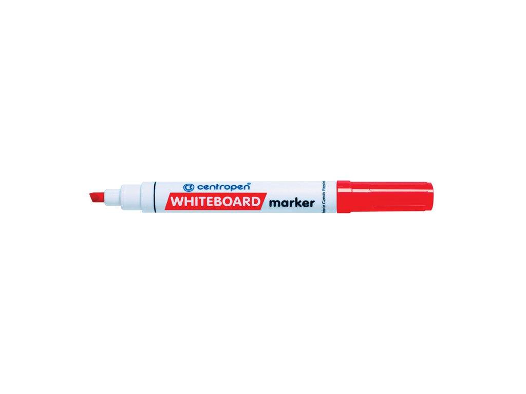 Značkovač Centropen 8569 stíratelný - červená