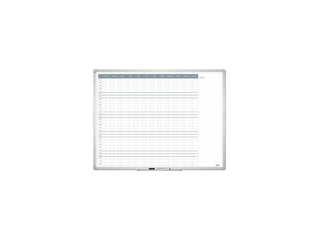Plánovací tabule - roční 90 x 120 cm