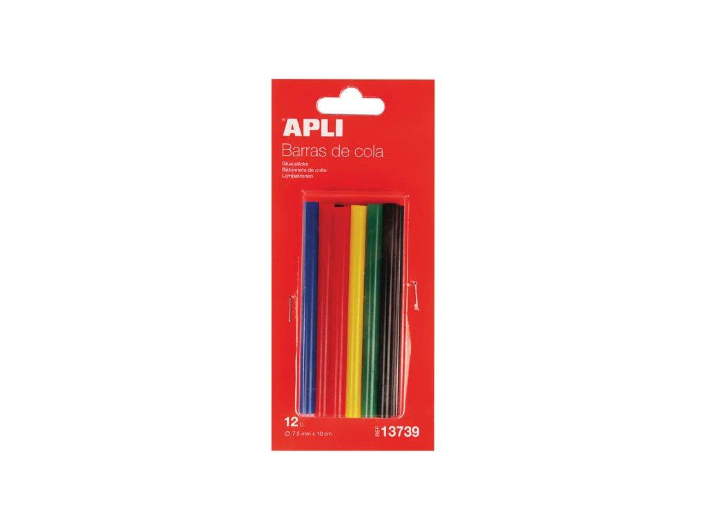 Lepicí pistole APLI - náhradní tyčinky barevné / 7,5 mm / 12 ks