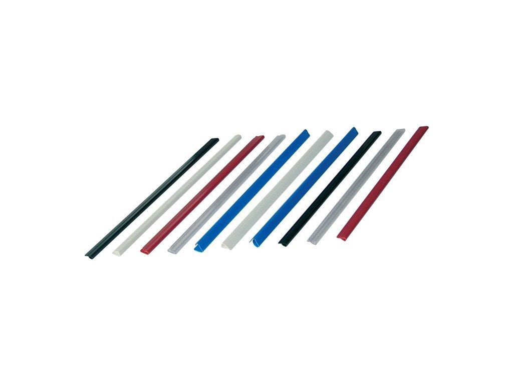 Rychlovazací nasouvací lišta Relido - kapacita 60 listů / čirá