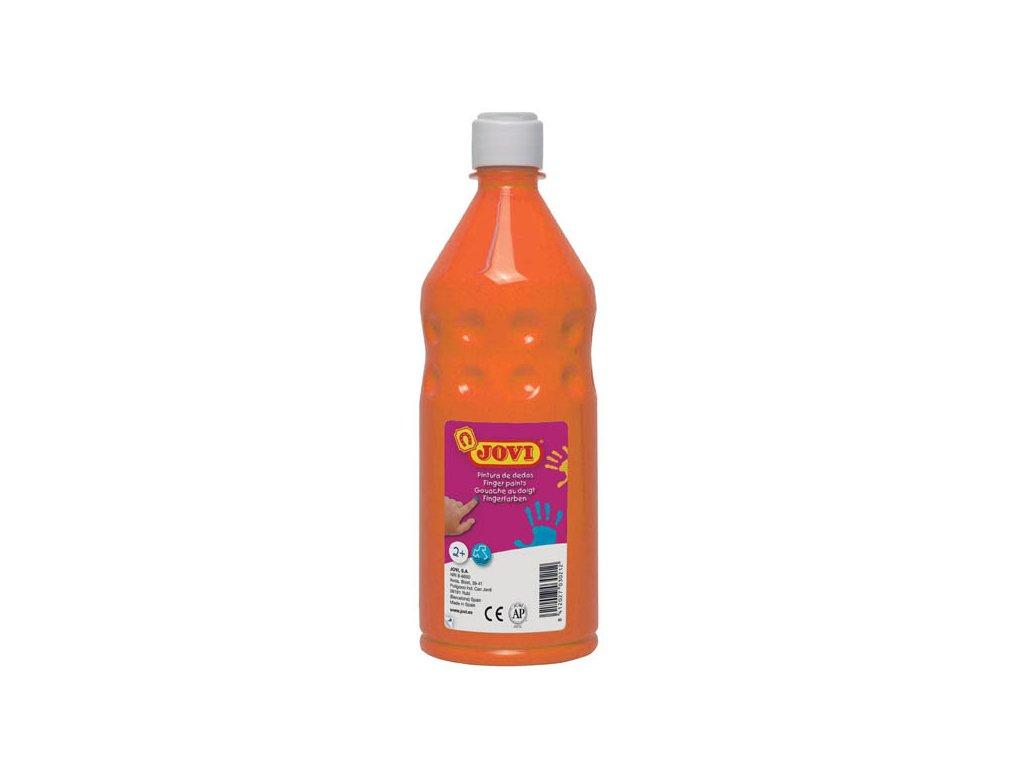 Prstové barvy JOVI v láhvi - 750 ml / oranžová