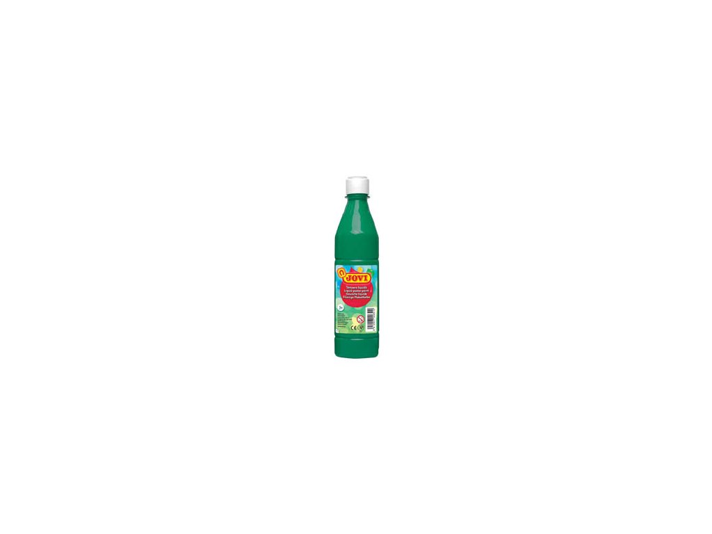Tekuté temperové barvy JOVI v lahvi - 500 ml / tm.zelená