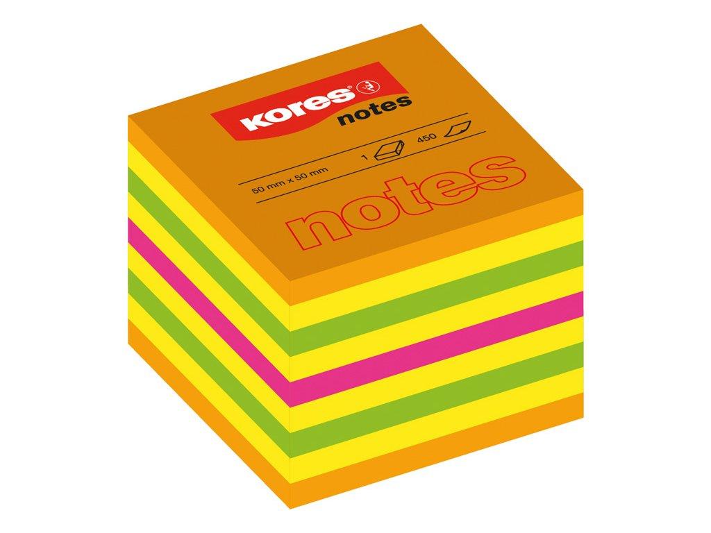 Samolepicí bloček Kores Cubo - 50 x 50 mm / 400 lístků