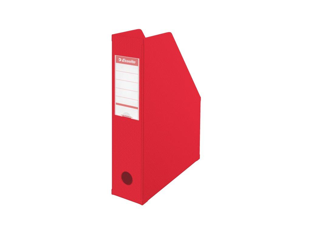 Stojan na spisy Economy - červená / hřbet 70 mm