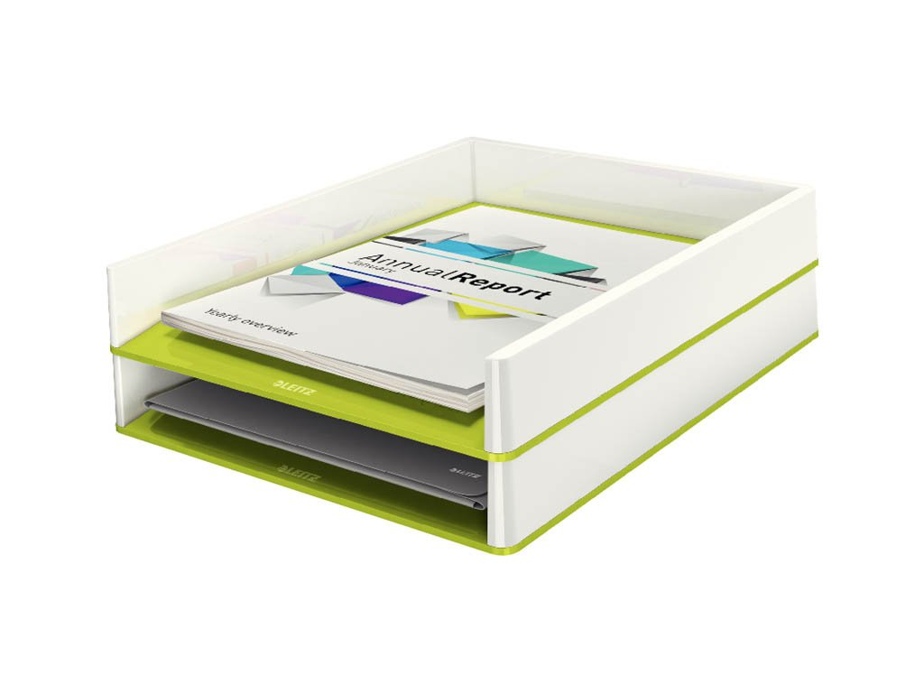 Kancelářský box Leitz WOW - zeleno - bílá