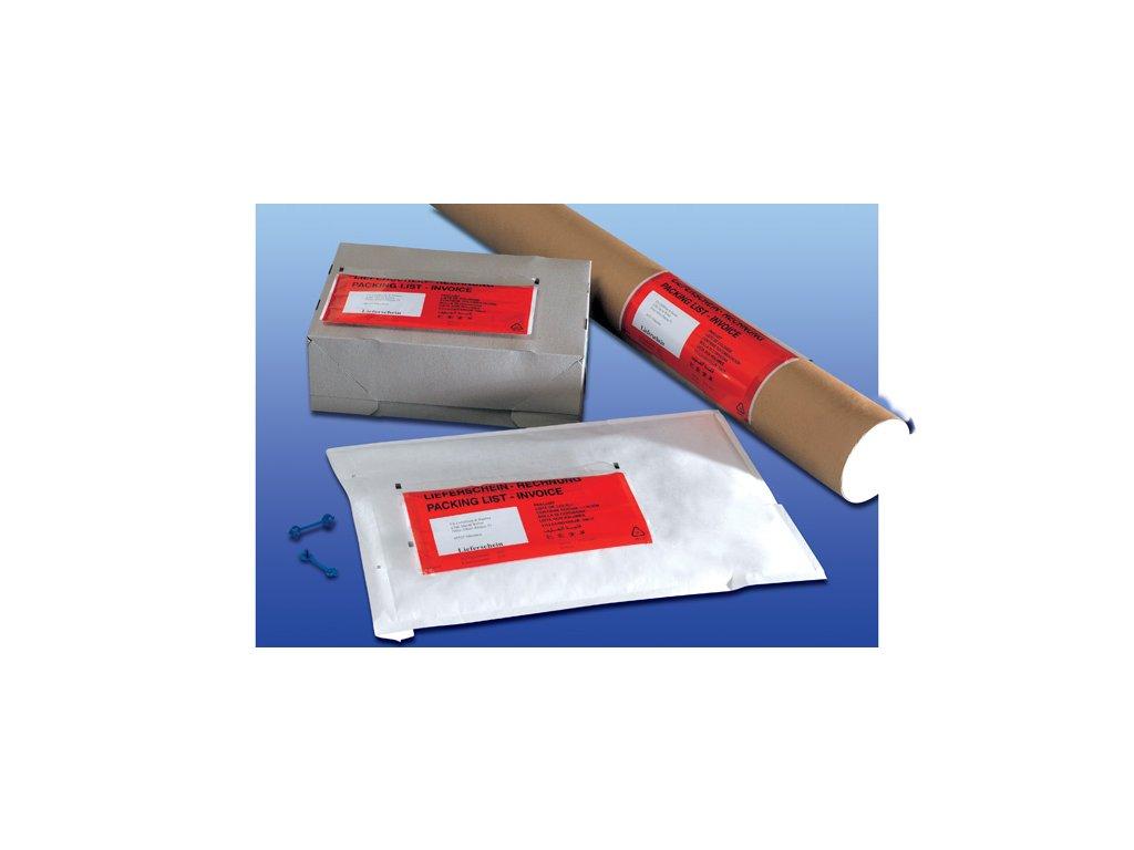Obálky samolepicí na zásilky - C5 / 240 mm x 164 mm / červené