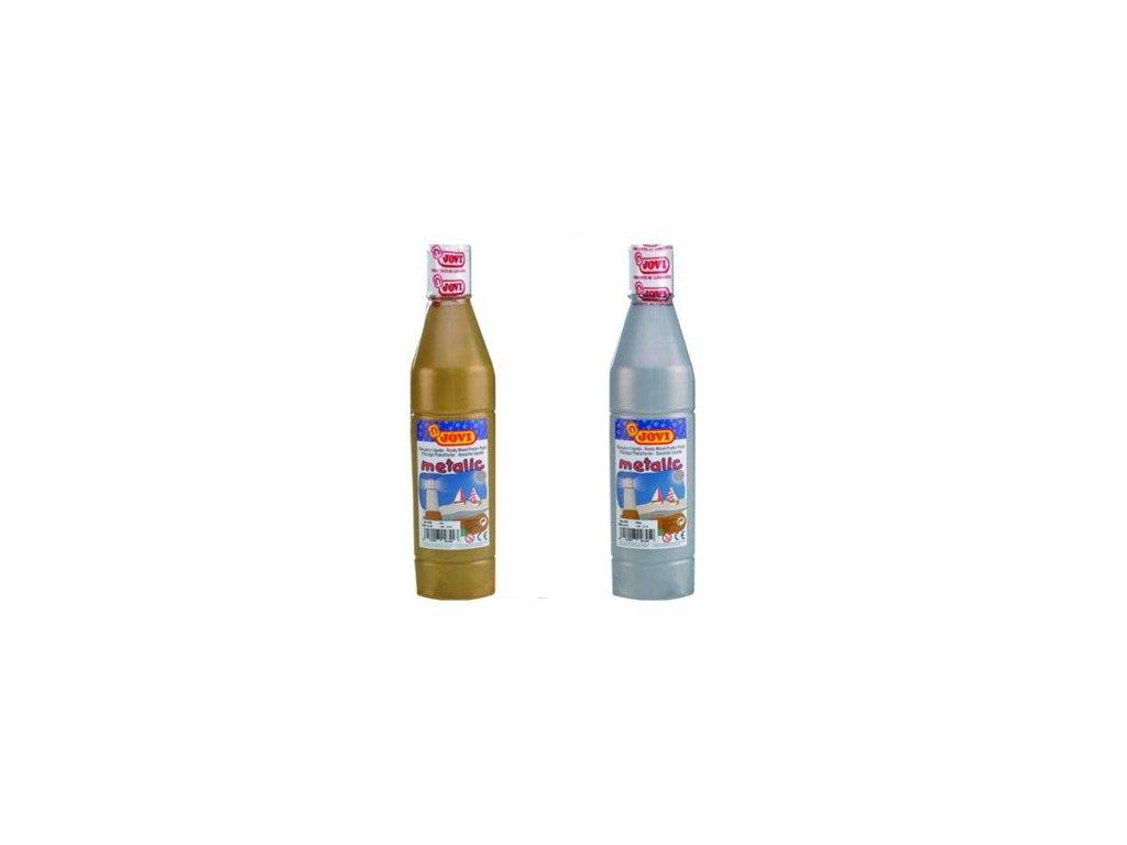 Tekuté temperové barvy JOVI v lahvi - 500 ml / zlatá
