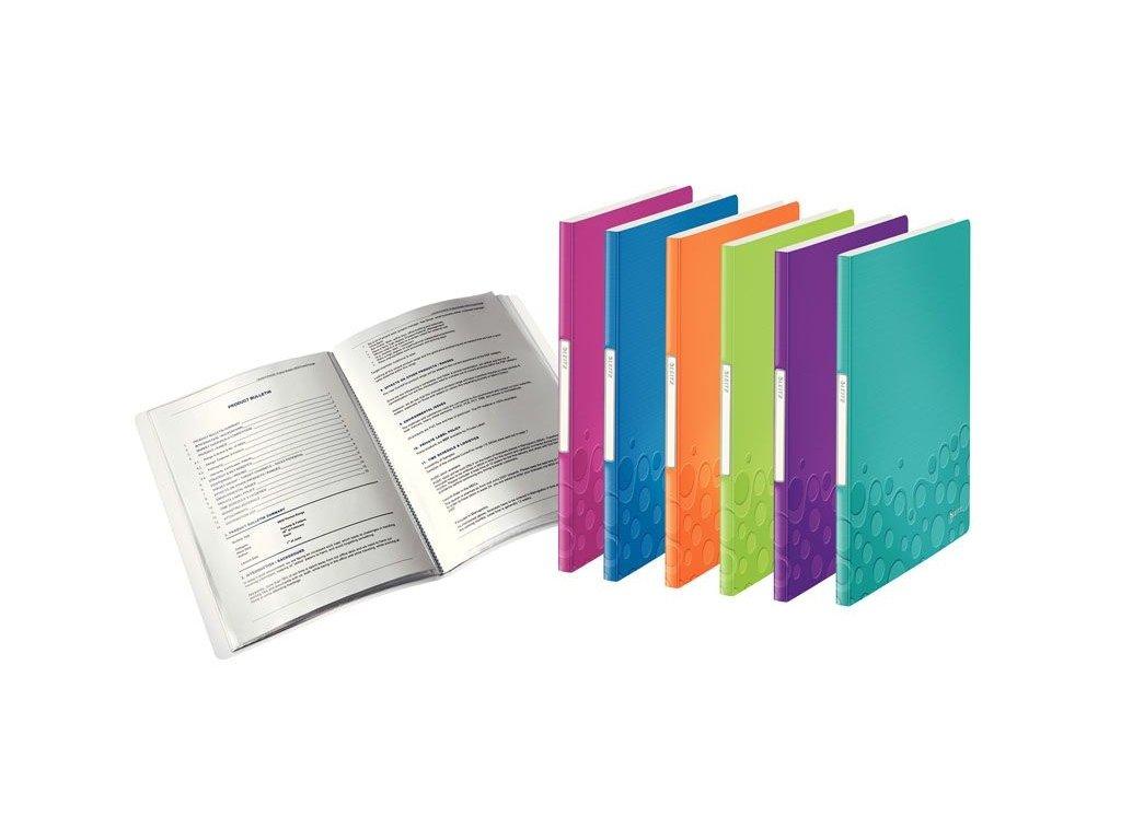 Prezentační desky A4 WOW - 20 kapes / tyrkysová