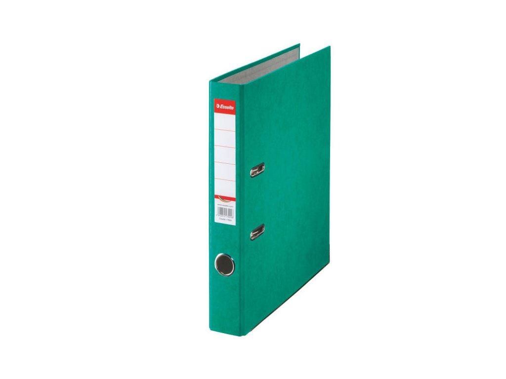Pořadač A4 pákový kartonový Rainbow - hřbet 5 cm / zelená
