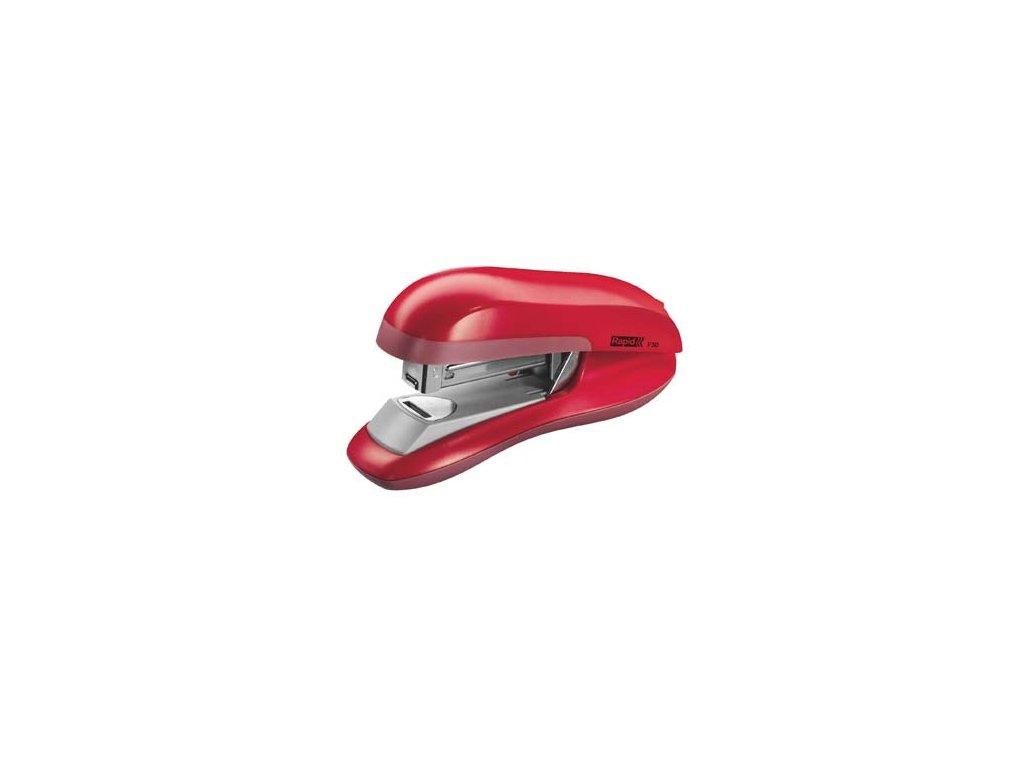 Kancelářský sešívač Rapid F30 s plochým sešíváním - červená