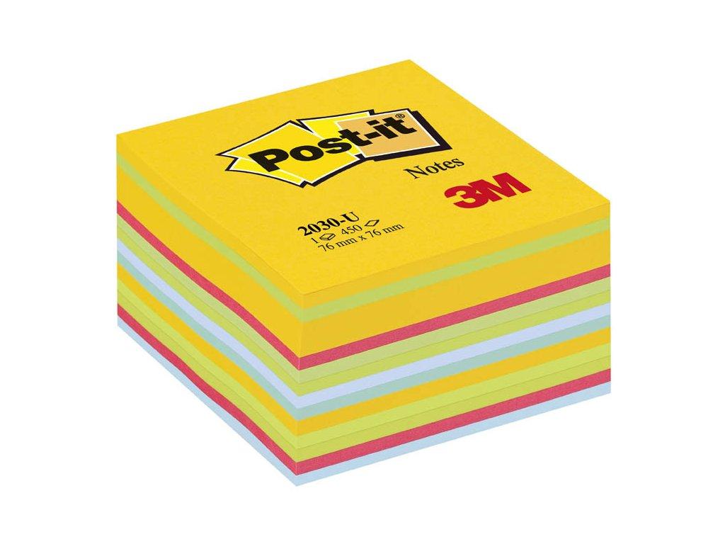 Samolepicí bločky Post-it kostky - ultra barvy / 450 lístků