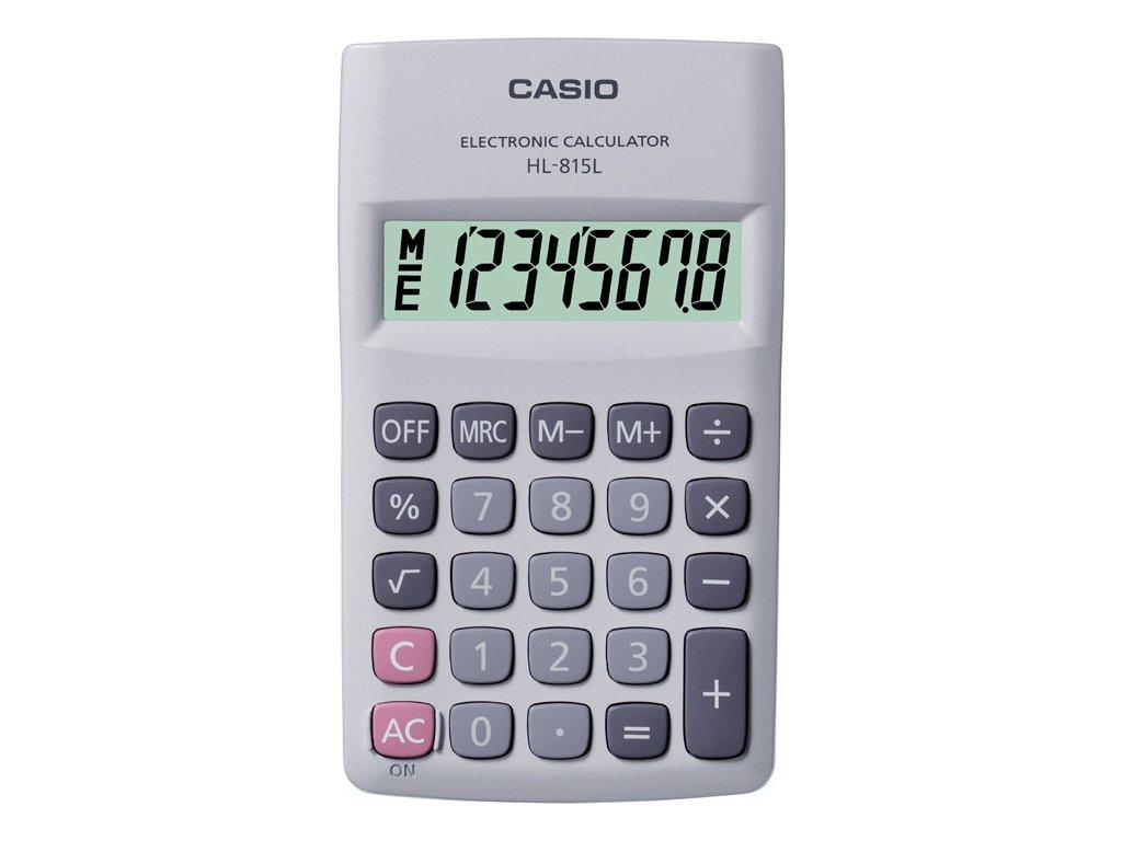 Kalkulačka Casio HL815L - displej 8 míst / černá