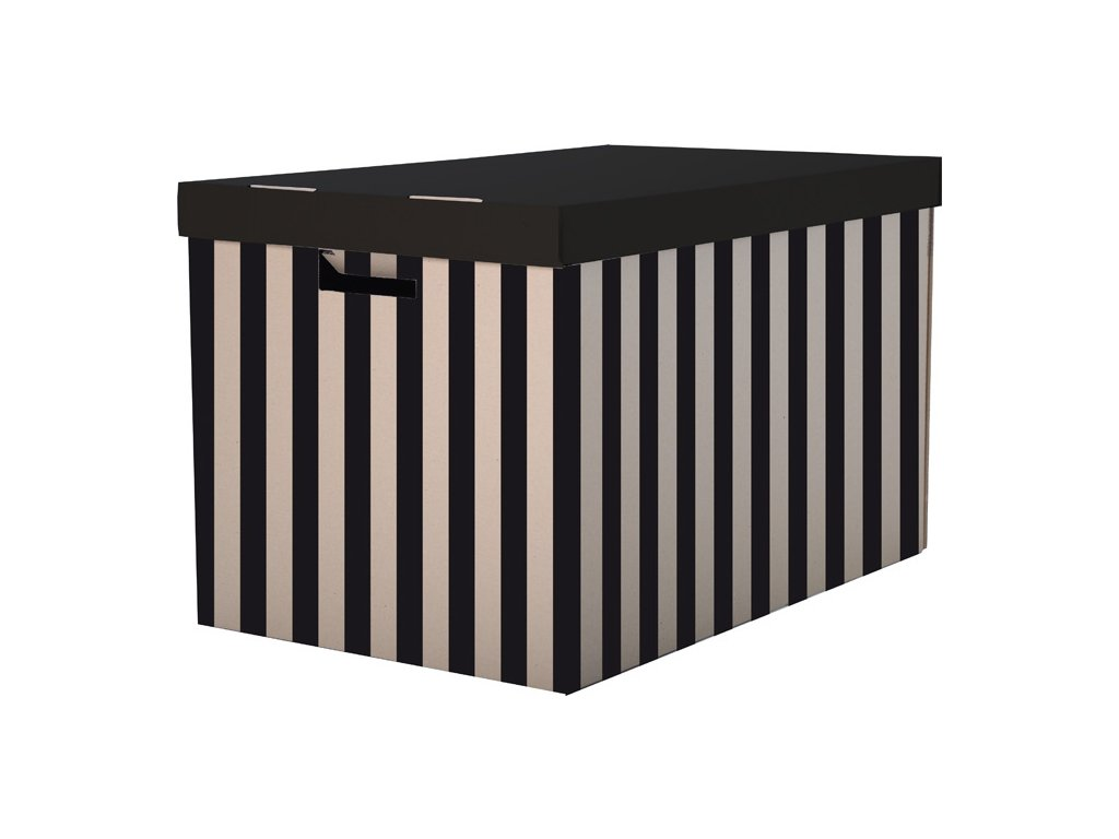 Krabice úložná s víkem - 56 x 37 x 36 cm / 2 ks