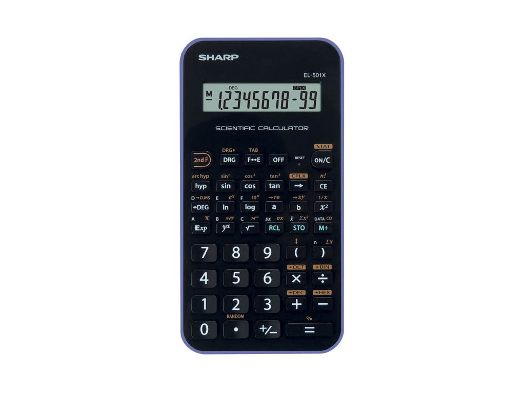Kalkulačka Sharp EL 501 - černo-bílá