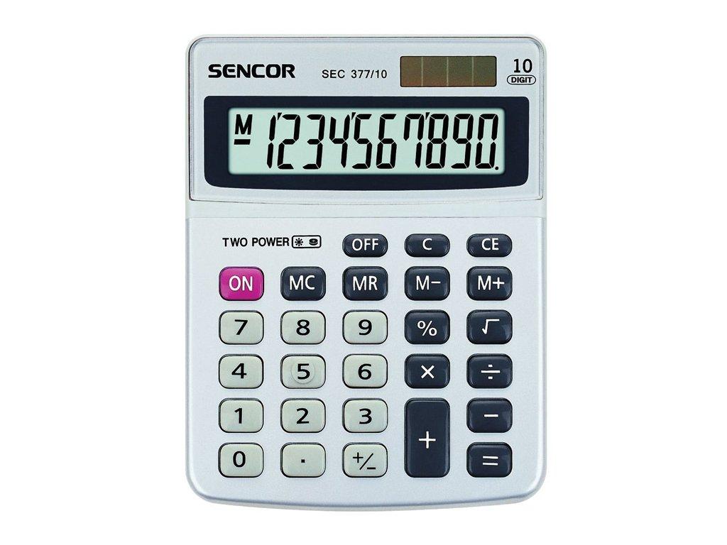 Kalkulačka Sencor SEC 377 - displej 10 míst