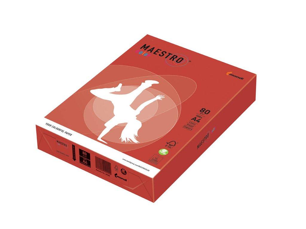 Xerografický papír BAREVNÝ - CO44 chile / sytá červená/ 500 listů