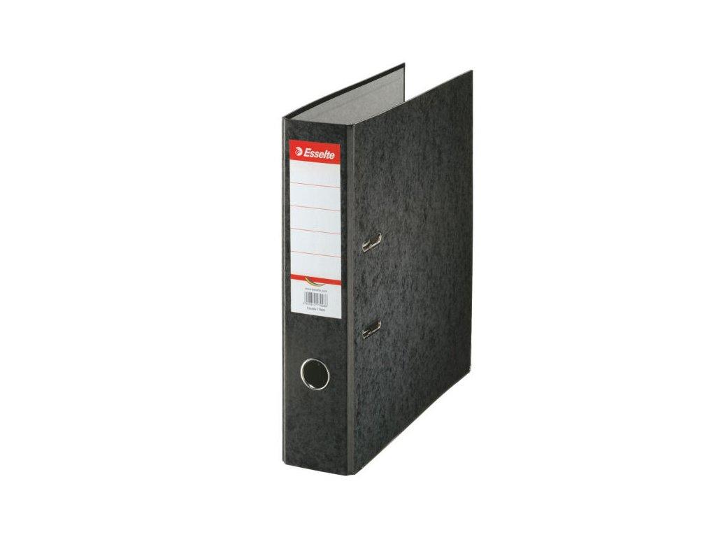 Pořadač A4 pákový kartonový Rainbow - hřbet 7,5 cm / černá