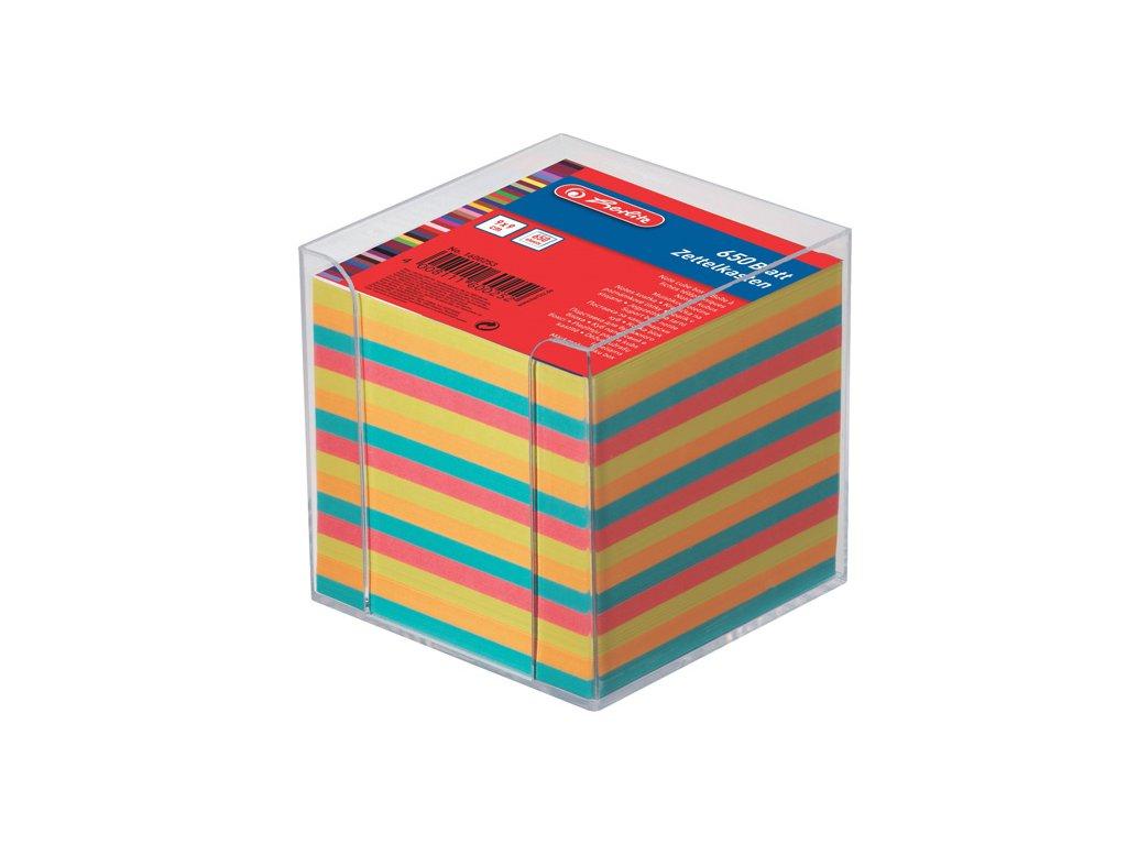 Záznamní kostky barevné Herlitz - 650 lístků v plastové krabičce