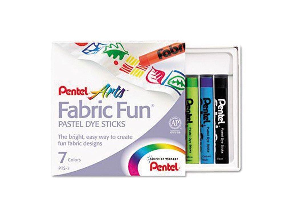 Voskové pastelky na textil - 7 barev