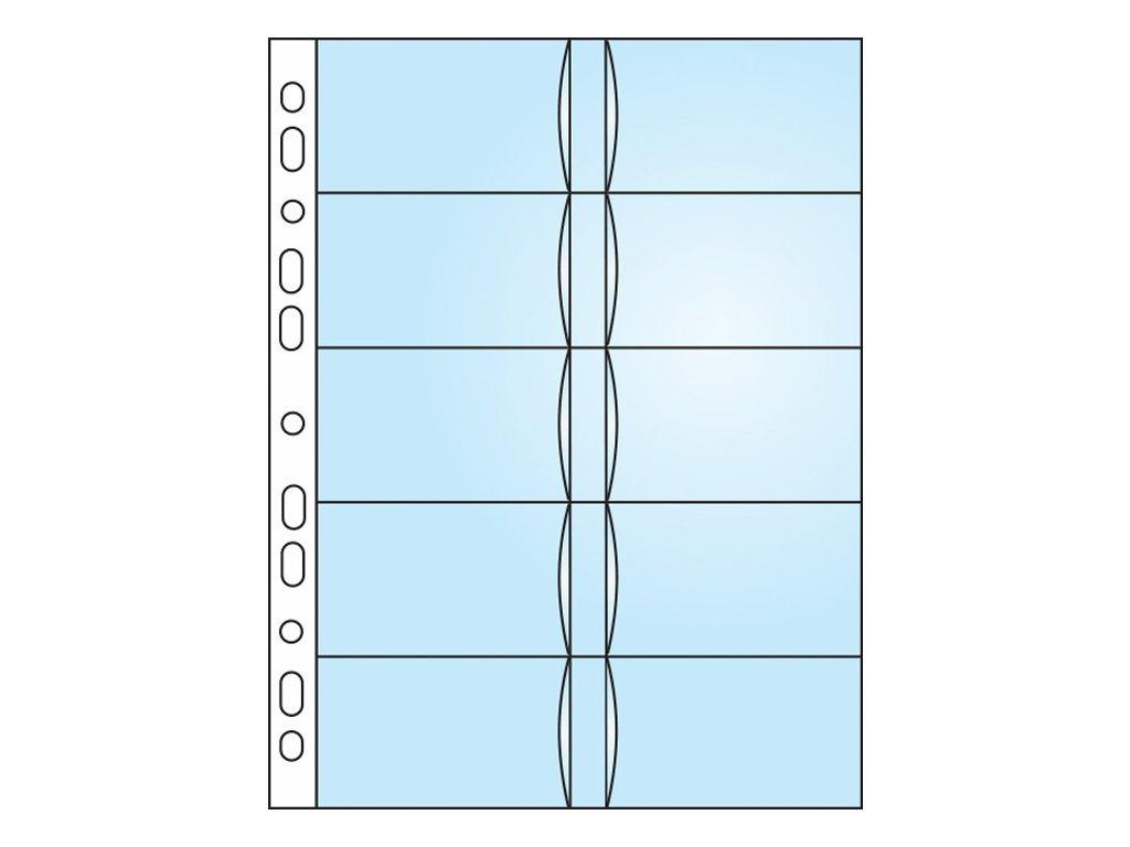 Závěsný obal Bantex - A4 silný / obal na 20 ks vizitek / 10 ks