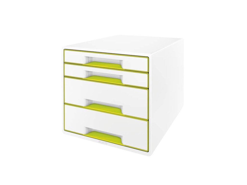 Zásuvkový box Leitz WOW - zelená / 2+2 zásuvky