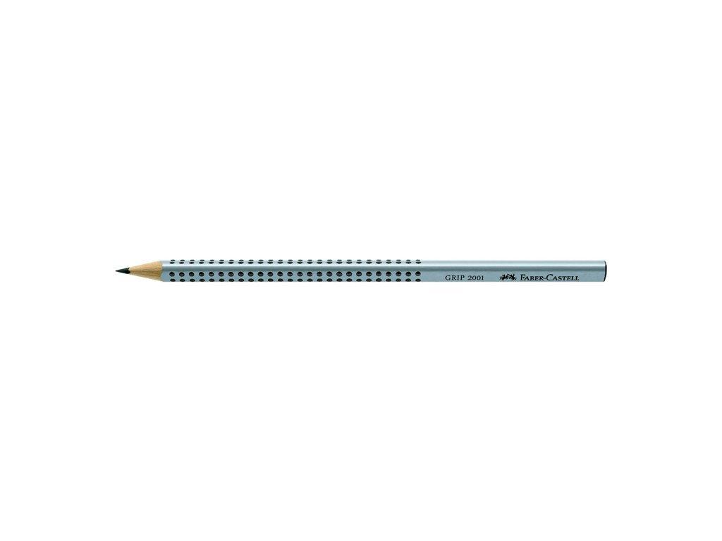 Tužka Faber- Castell GRIP 2001 - stříbrná