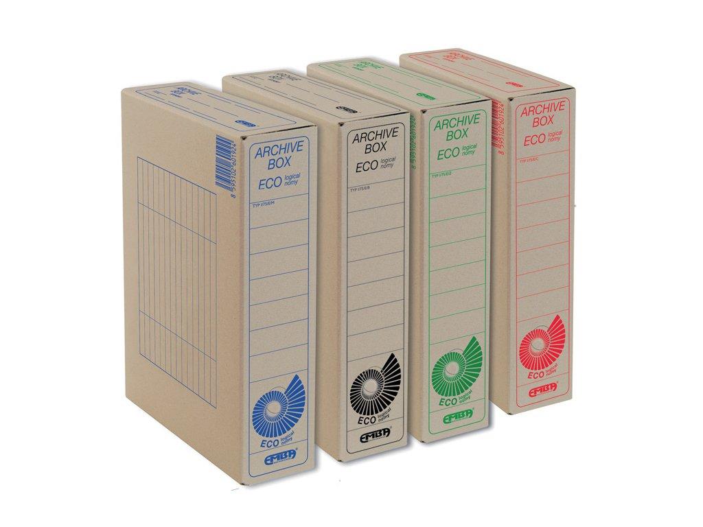 Box archivní Emba Economy - 33 cm x 26 cm x 7,5 cm