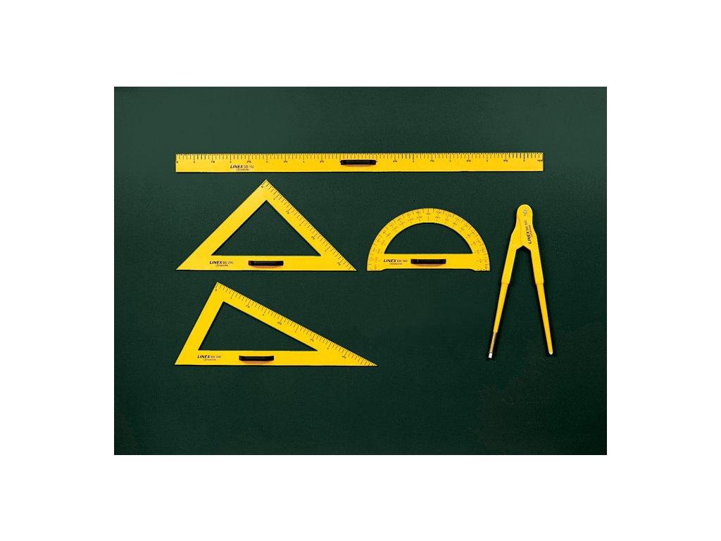 Rýsovací potřeby na školní tabuli LINEX - úhloměr