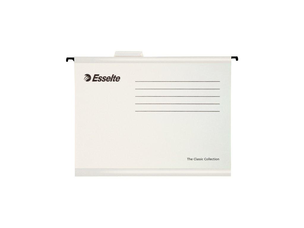 Závěsné desky Esselte Classic Collection - bílá