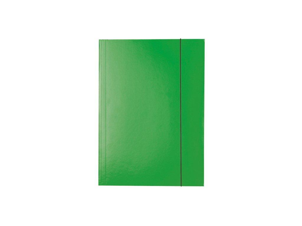 Odkládací mapy kartonové s gumou - zelená