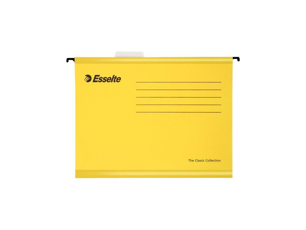 Závěsné desky Esselte Classic Collection - žlutá
