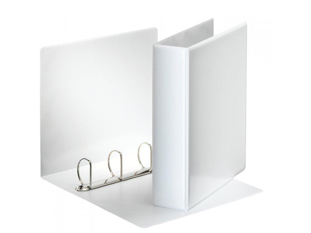 Pořadač A4 kroužkový prezentační - hřbet 7,5 cm -4 - kroužek / bílá