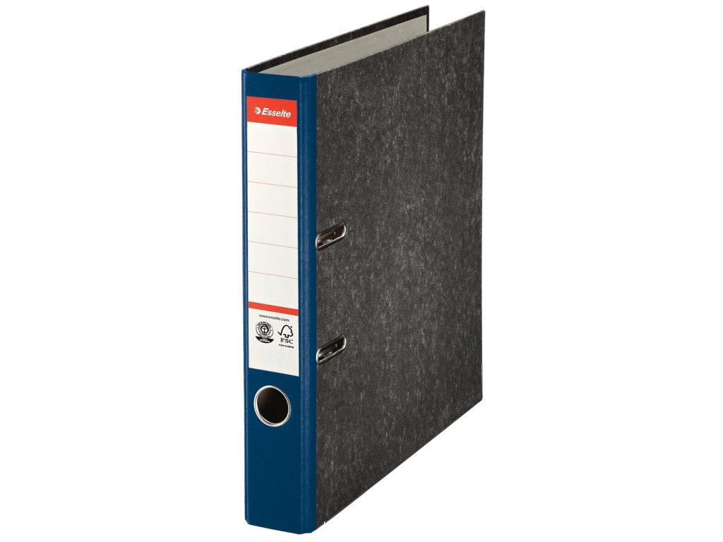 Pořadač A4 pákový papírový s barevným hřbetem - hřbet 5 cm / modrá