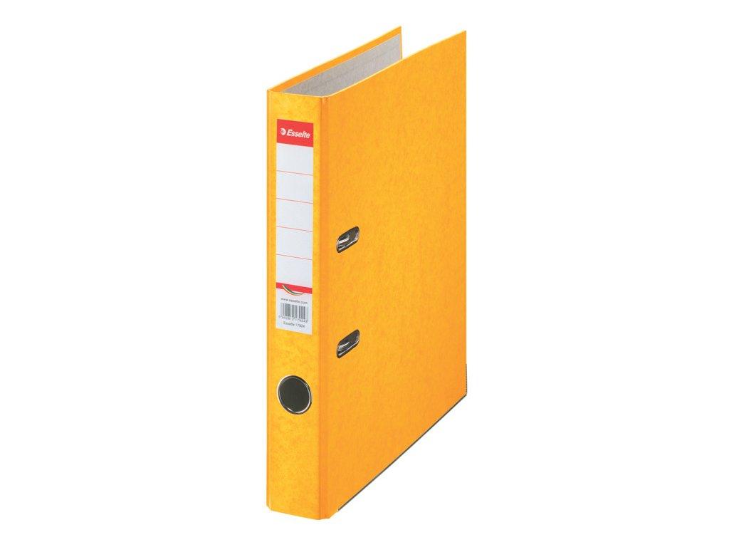 Pořadač A4 pákový kartonový Rainbow - hřbet 5 cm / žlutá