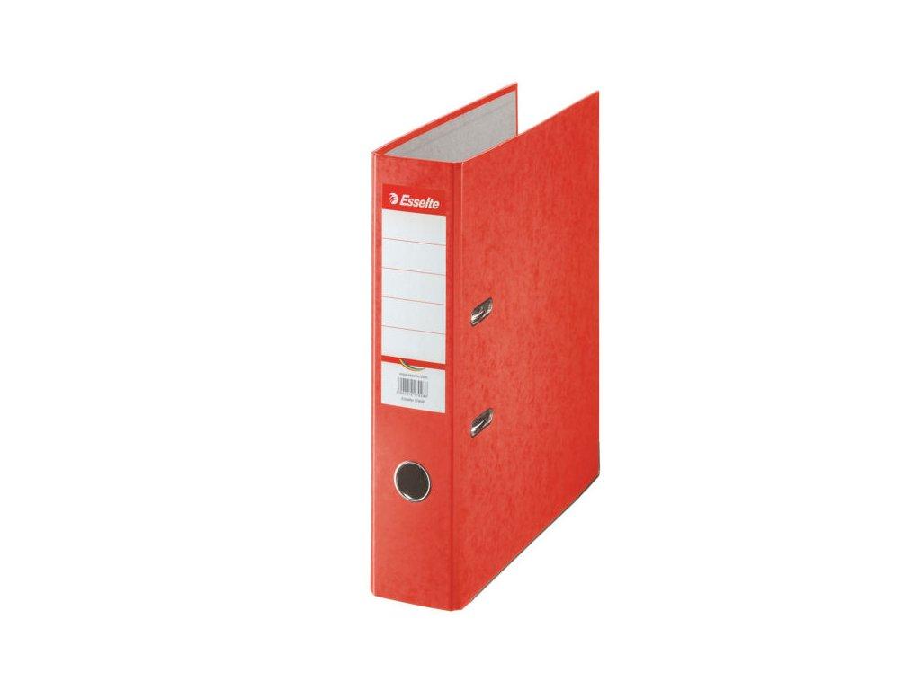 Pořadač A4 pákový kartonový Rainbow - hřbet 7,5 cm / červená