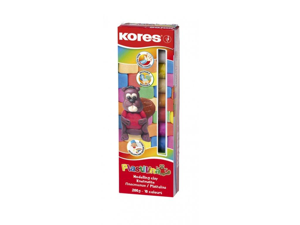 Plastelína Kores - 10 barev / 200 g