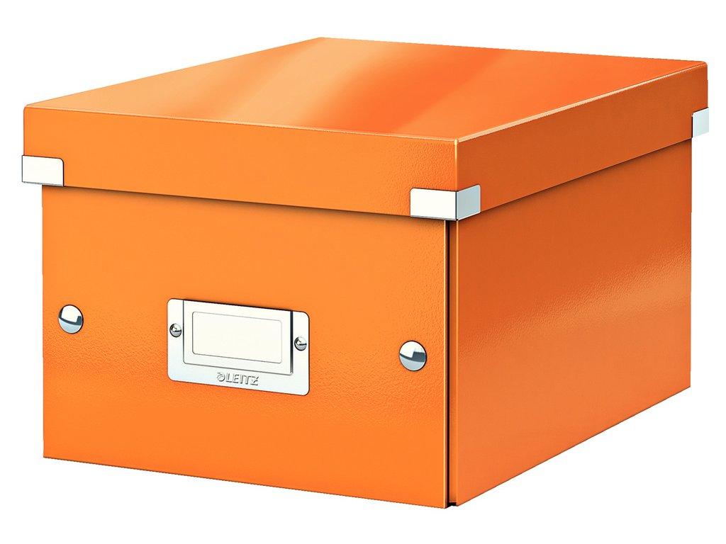 Krabice Leitz Click & Store - S malá / oranžová