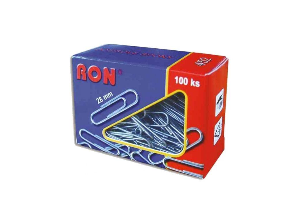 Dopisní spony RON - 28 mm / 100 ks