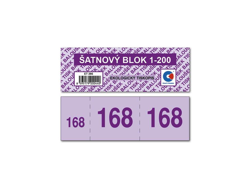 Šatnové bloky - 135 x 47 mm / 1-200 / 8 odstínů barev / ET295