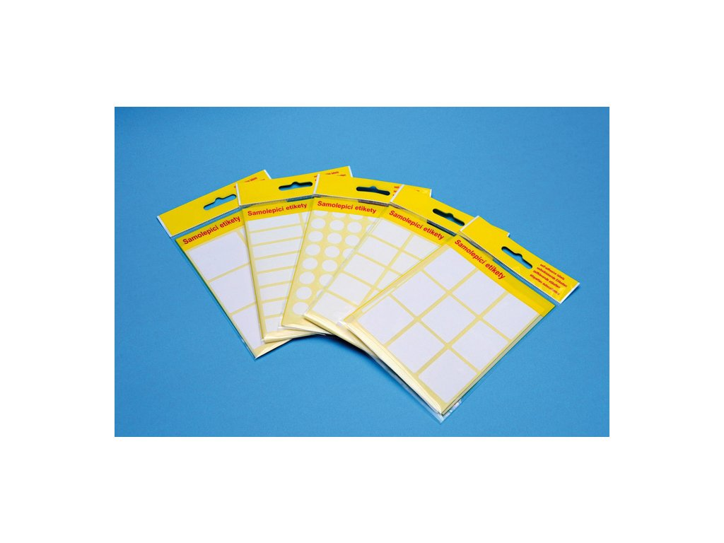 Samolepicí etikety v sáčku - 42 x 35 mm / 60 etiket