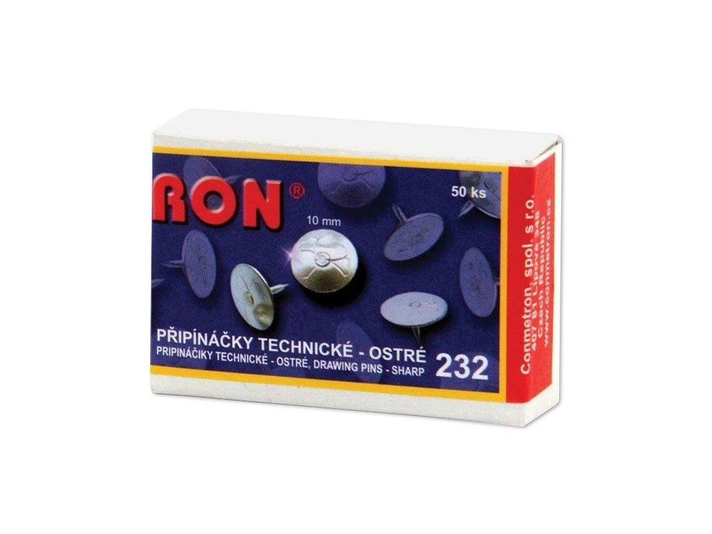 Připínáčky RON - 232 / 50 ks, technické