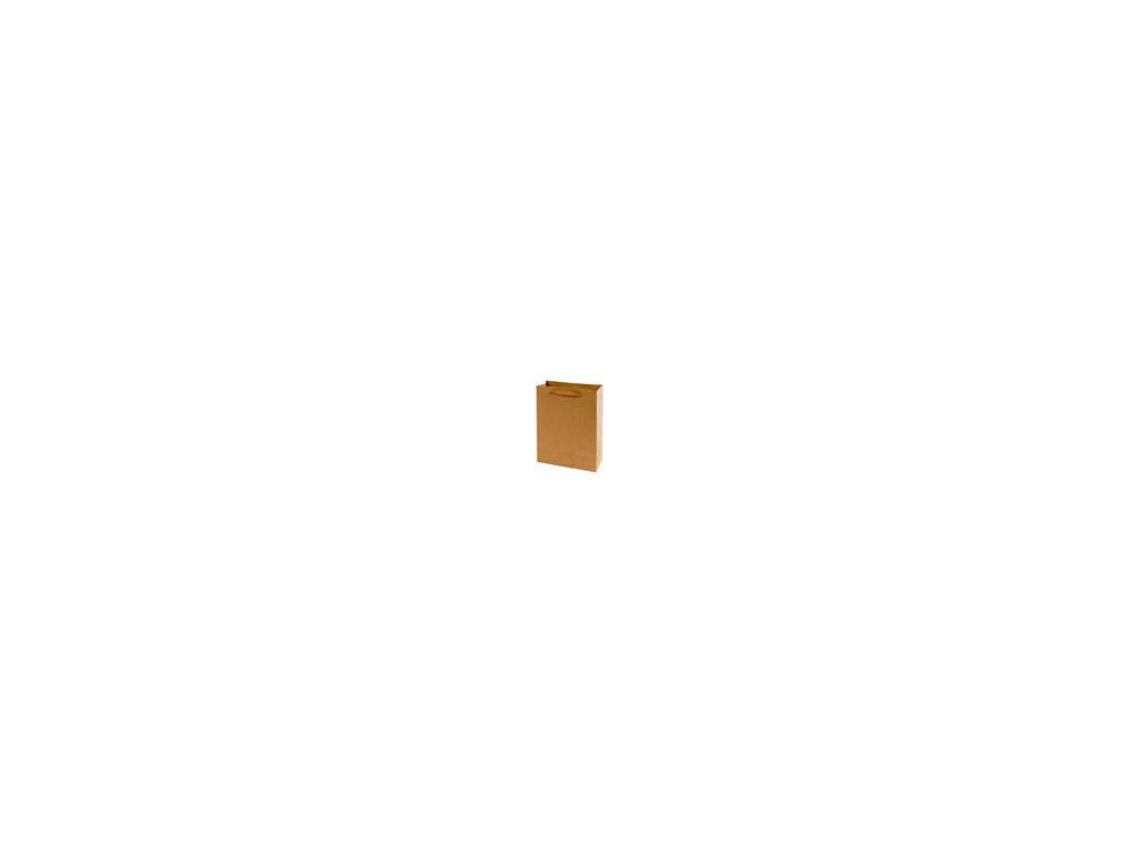 Tašky papírové EKO hnědé - střední / 190 x 80 x 240 mm
