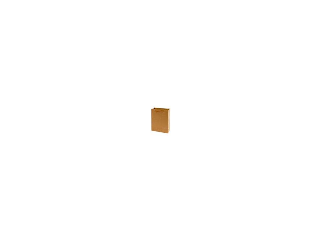 Tašky papírové EKO hnědé - malá / 150 x 60 x 200 mm
